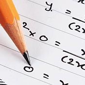 Pencil and generic math equation
