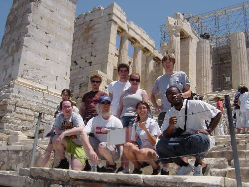 Students on Acropolis
