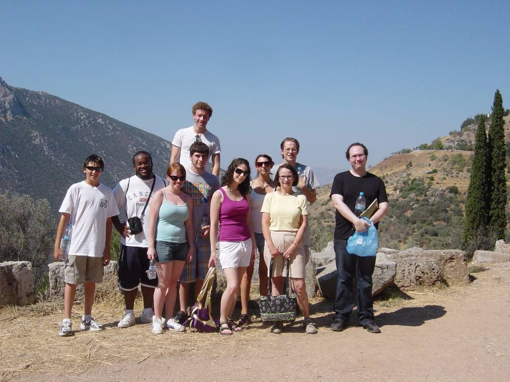 Students at Delphi site