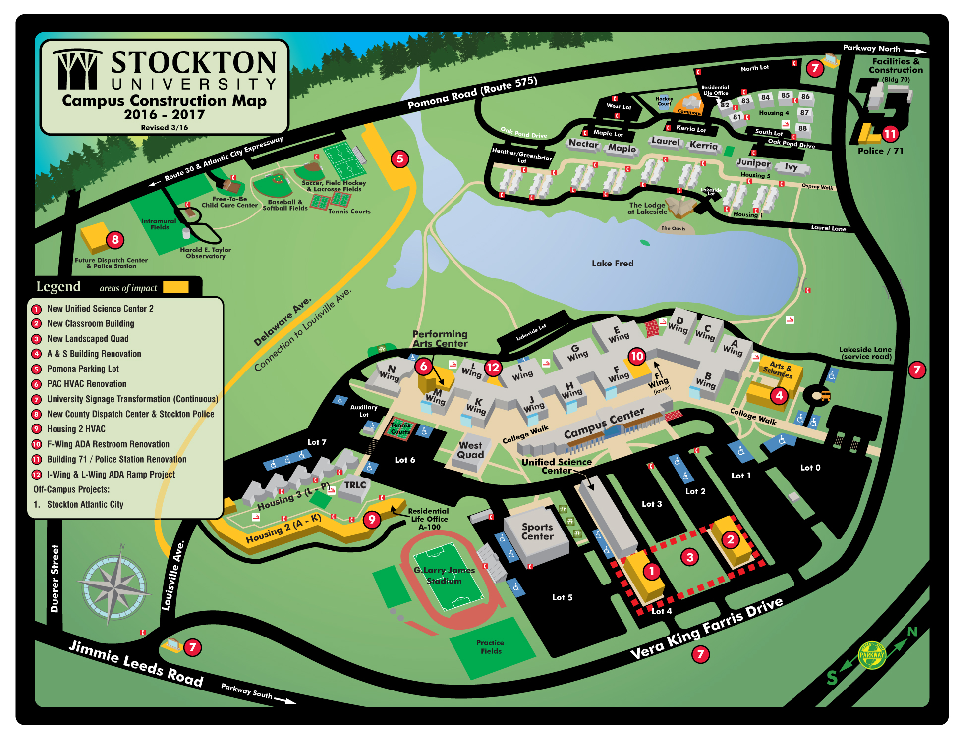 Maps Directions Parking Transportation Stockton University