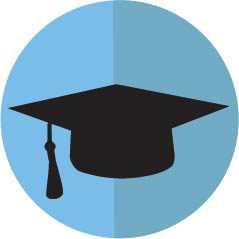 Image of grad cap icon