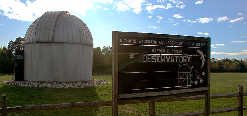 Image of the Harold E. Taylor Observatory at Stockton University