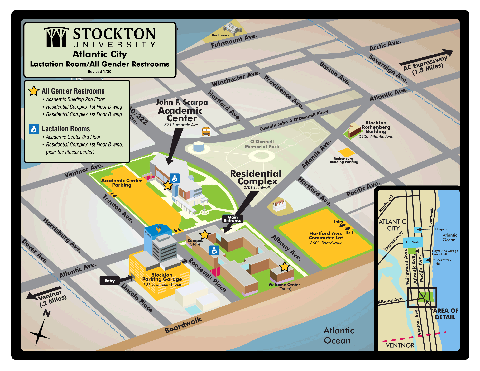 Atlantic City Campus Map of All Gender Restrooms